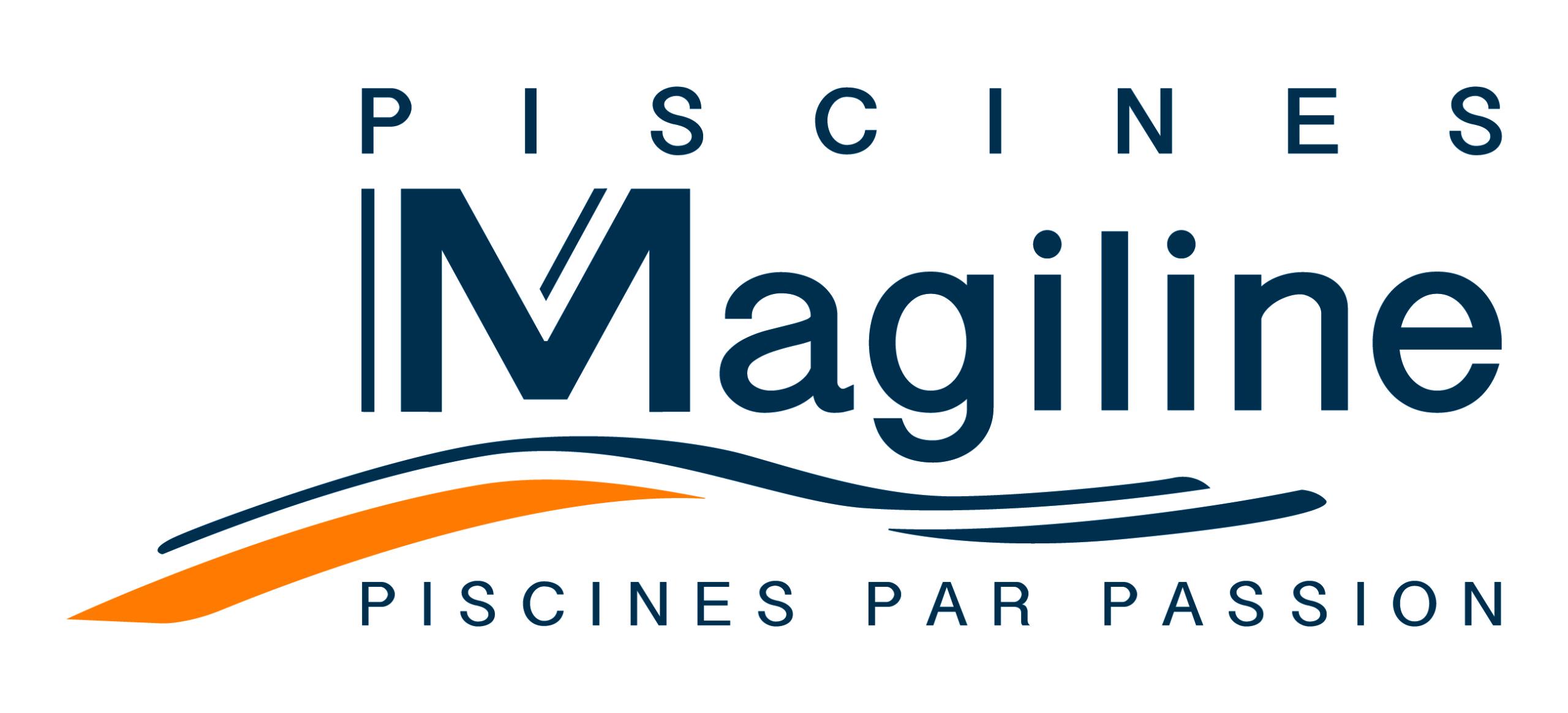 logo magiline texte bleu